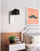 Nordic modern minimalist bedside lamp creative personality bedroom study corridor iron wall lamp home led wall lamp