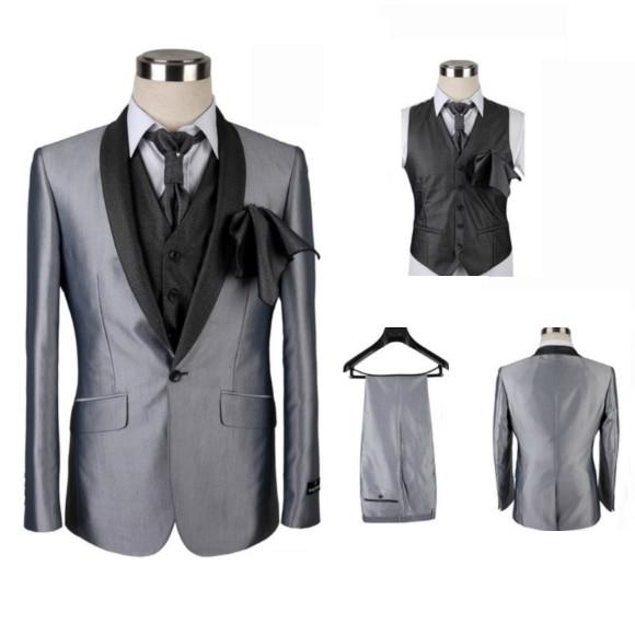 Chaqueta de moda para Hombre, traje de baño gris y blanco, de...
