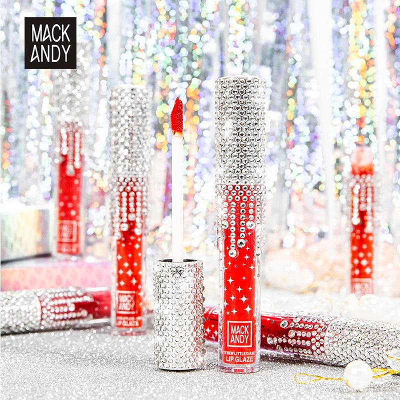 Broca ligera de diamante de terciopelo mate brillo de labios de larga duración resistente al agua Color rico brillo de labios rojo Sexy maquillaje Nude cosméticos de belleza