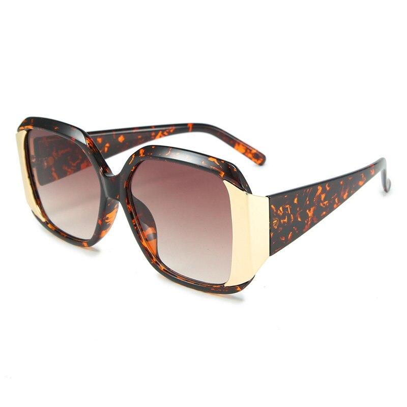 Oloey europa e os estados unidos retro grande quadro óculos de sol novo luxo hd anti-uv clássico marca design senhoras óculos de sol