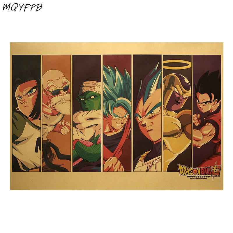 Anime Dragon Ball Super Charakter Kraft Papier Poster Wand Sticker Zimmer Dekoration Malerei Home Bild Malerei 50,5 x35cm