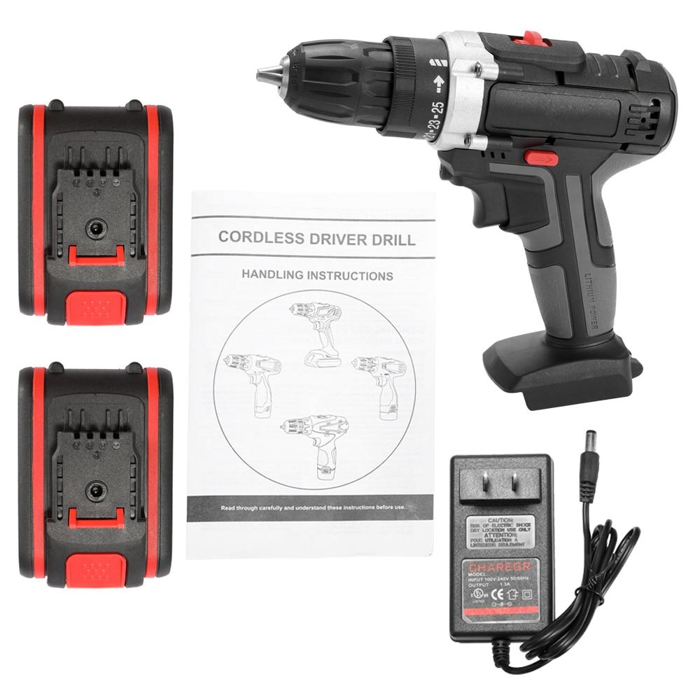 36v multifuncional elétrica impacto furadeira sem fio de alta potência bateria de lítio sem fio recarregável mão brocas ferramentas elétricas