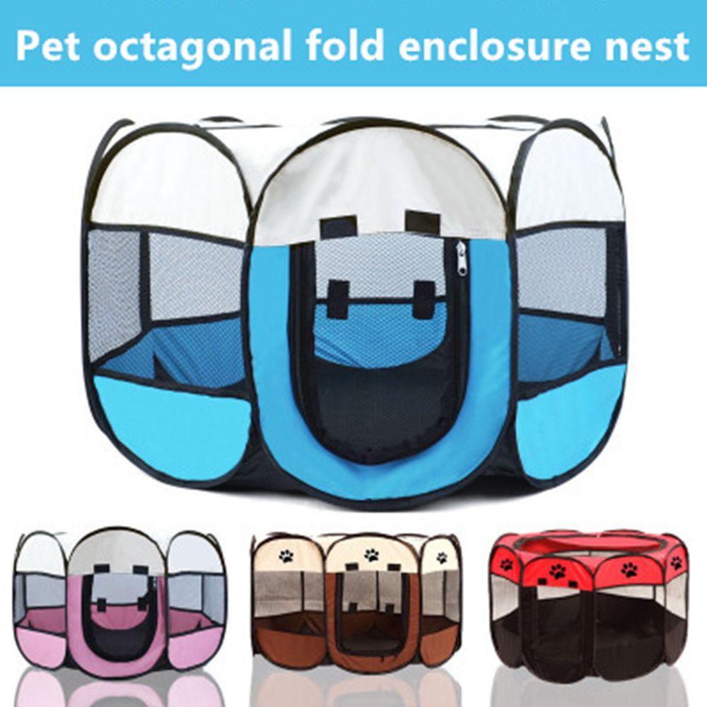 Tienda parque de mascotas plegable, jaula para hacer ejercicio, octagonal, interior, Cag,...