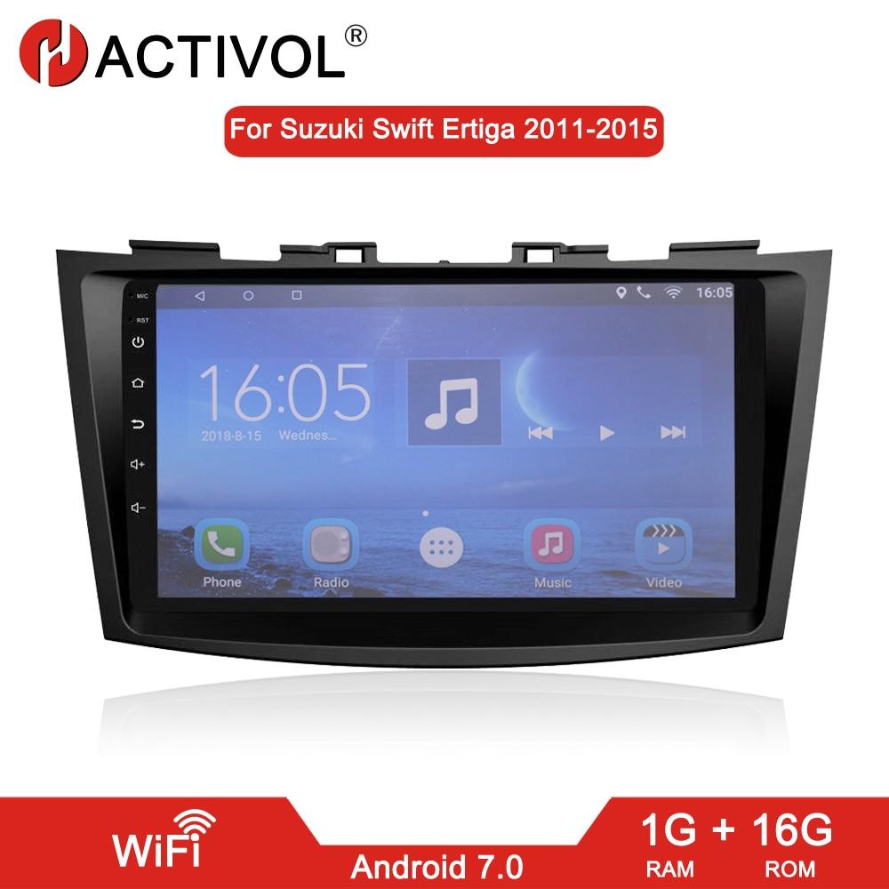 "HACTIVOL 9"" Quad core car radio Stereo for Suzuki Swift Ertiga 2005-2016 android 7.0 Car DVD GPS player with 1G RAM 16G ROM"