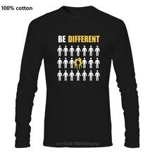 Krav Maga Être Différents Hommes T-shirt Dété Camiseta Masculina Grande Taille Coton Personnalisé À Manches Longues hommes T-shirts