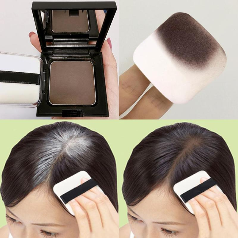 12g Waterproof Hair Shadow Powder Edge Control 3 Colors Hair Line Powder With Puff Makeup Hair Conce