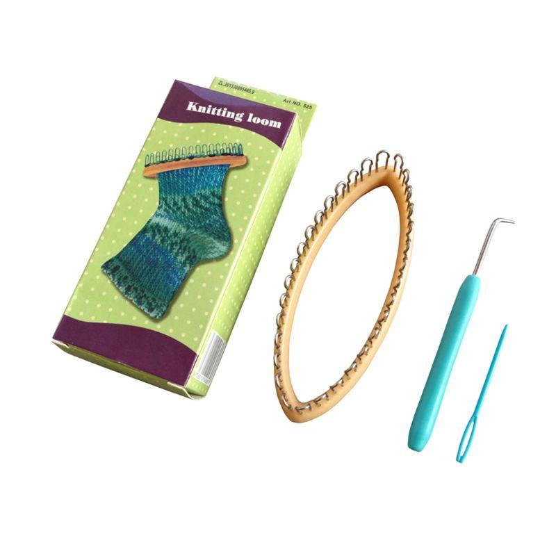 Plastikowe narzędzie do majsterkowania tkackie skarpetki ABS krosna do przędzy sznurek Knitter Knitting wełna krosna okrągła dzianina
