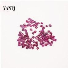 Véritable rubis naturel pierres précieuses en vrac Squre coupe pour bijoux fins argent et or montage bricolage femmes anneau cadeau de fête