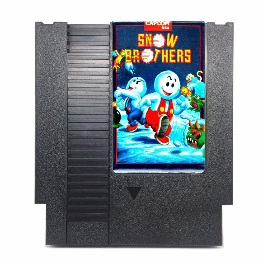Snow Brothers tarjeta de juego de 72 pines para jugador de juego de 8 bits