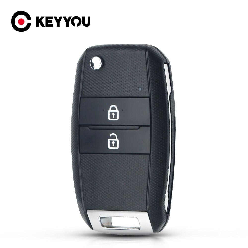 KEYYOU Folding Flip 2 Tasten Remote Key Shell Für Kia K3 K5 Ersatz Auto Schlüssel Rohlinge Fall Fob Abdeckung Uncut HY18 Klinge