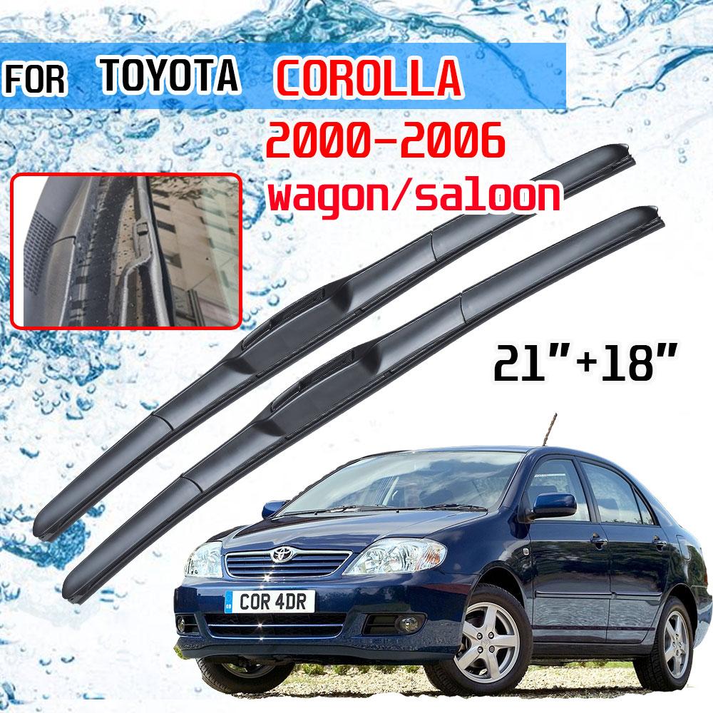 Para toyota corolla e120 e130 2000 2001 2002 2003 2004 2005 2006 wagon acessórios saloon brisas limpador de lâmina para o carro