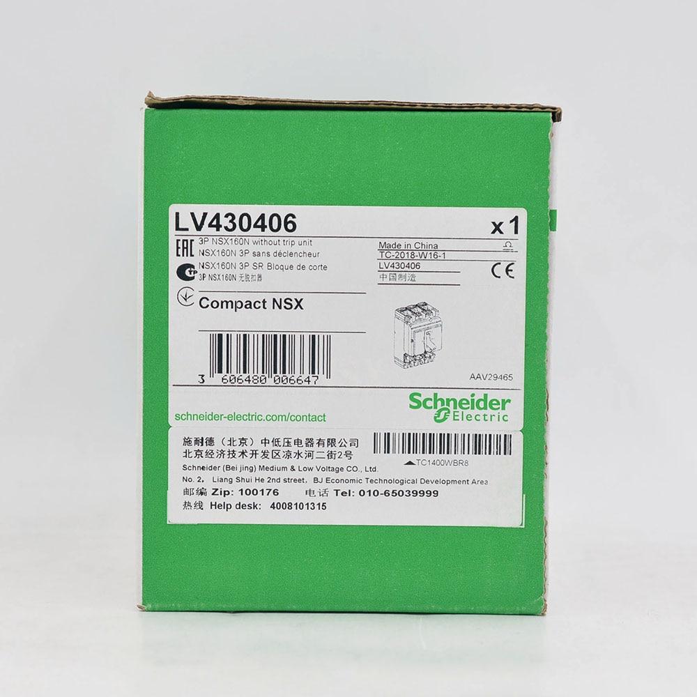 Compact NSX100/160/250 Breaker Body NSX160N (50kA ) LV430406 NSX160N 50 kA at 415 VAC 160 A 3 poles without trip unit