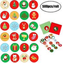 500Pcs Merry Christmas Sticker label Scrapbooking 8 designs sticker christmas holiday gift Party Sup