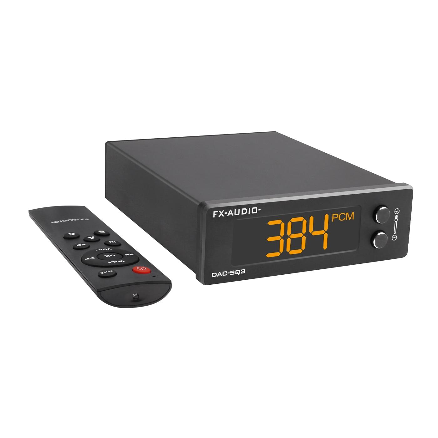 FX-AUDIO DAC-SQ3 USB صغير DAC ES9038Q2M XMOS XU208 LM49720A PCM 32Bit/384kHz DSD256 الصوت HIFI فك