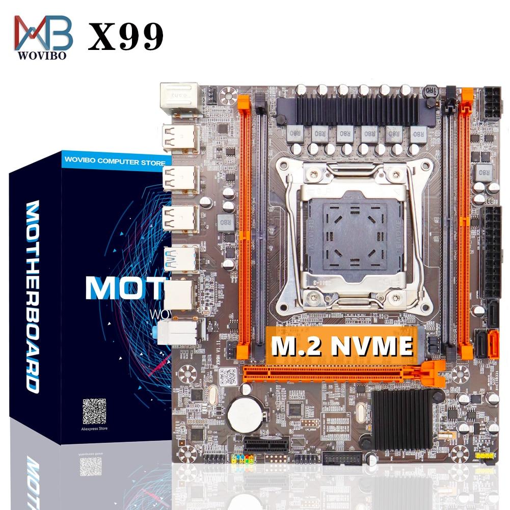 LGA 2011 V3 اللوحة X99 SATA III M.2 NVME SSD USB 3.0 DDR4 ذاكرة اللوحة ل إنتل LGA2011-3 I7 زيون E5 وحدة المعالجة المركزية بلاكا ماي