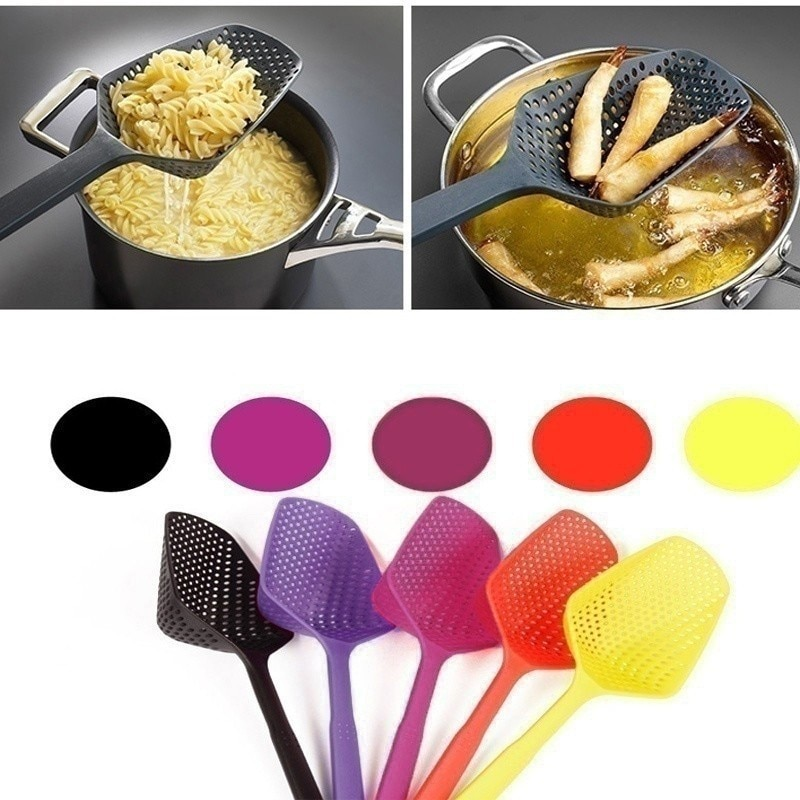 Filtro de sopa, pala de cocina, cuchara colador de verduras, cuchara de Nylon, colador de presión resistente a altas temperaturas, herramienta de cocina A30