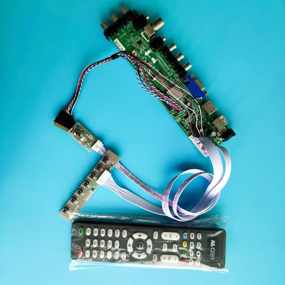ل LP140WD2-TLD2/LP140WD2-TLD1 LED USB VGA التلفزيون 40pin 1600X900 إشارة تحكم DVB-T DVB-T2 كيت HDMI AV مجلس الرقمية عن بعد