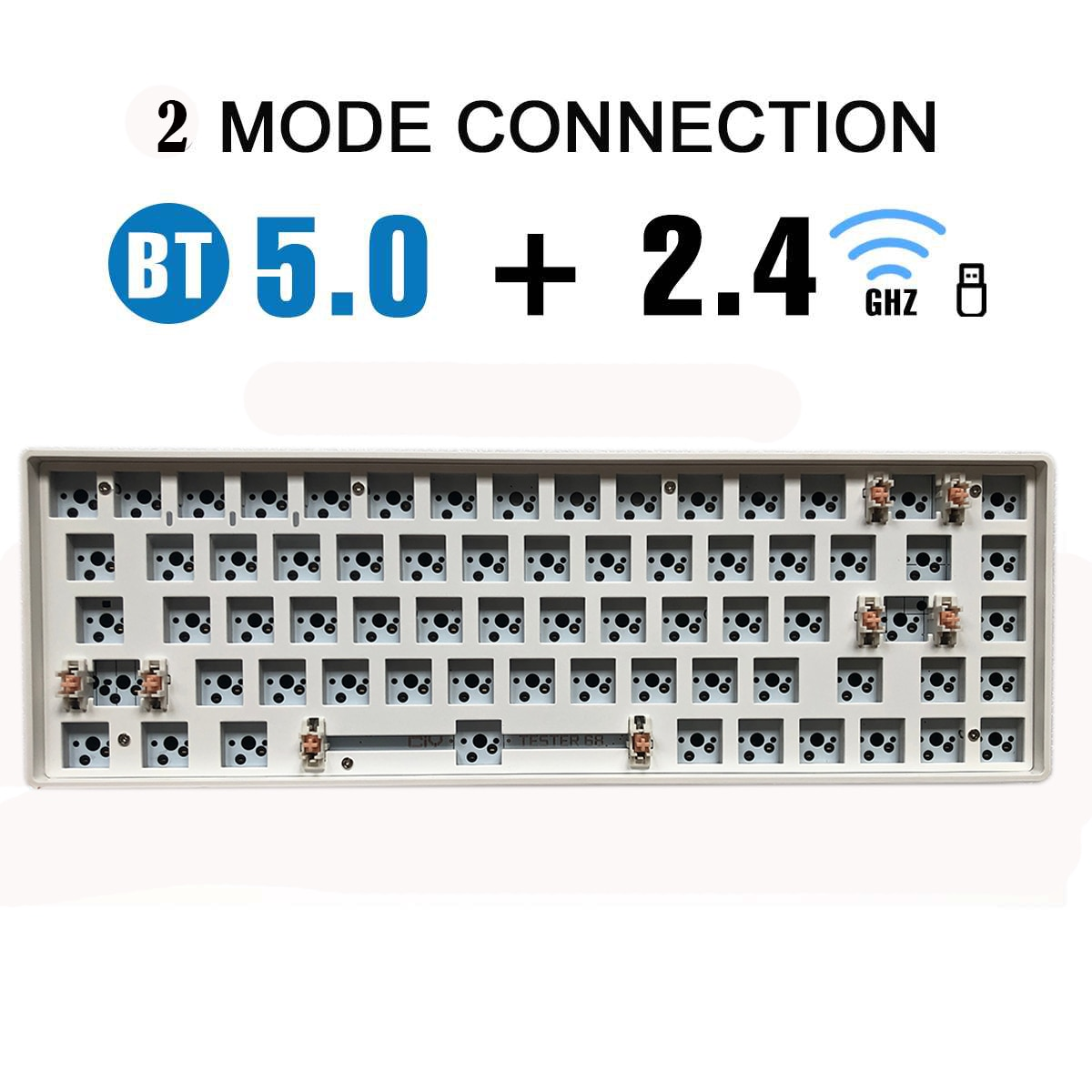 Pre-sale 68Keys Bluetooth Wireless 2.4G Hotswap DIY Keyboard Kit TESTER  Mute Cotton Compatiable Wit