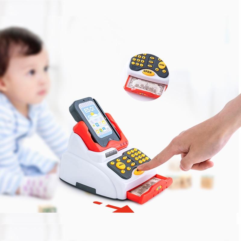 Kids Cash Register Children's Toy Simulation Supermarket Shopping Girl Boy Swipe Card Machine Sales Cash Register