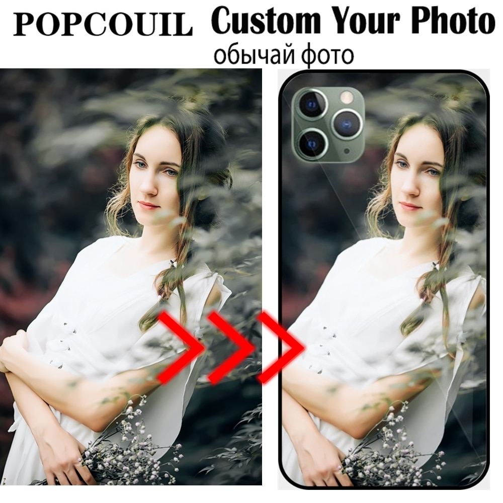 Custom Personalized Glass Phone Case For IPhone 6 6SP 7 8 Plus X 11 Pro XS MAX XR Cover Customized D