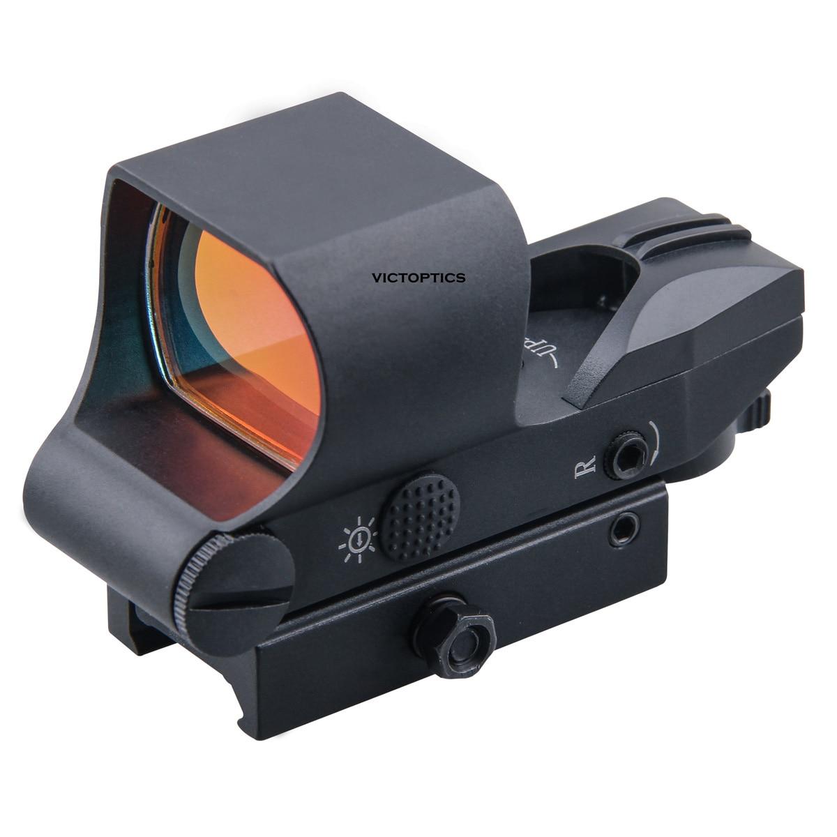 Victoptics 1x28x40 شبكاني قفل نظام التكتيكية ريد دوت نطاق جهاز الرؤية العاكس 21 مللي متر QD Picatinny جبل 6 مستويات