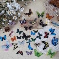 40 pieces ensemble de papeterie autocollants papillons sac de fete remplissage papillon autocollant bricolage decor a la maison