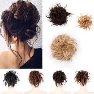 1PC Women's Fashion Curly Wave Synthetic Hair Bun Chignon Hair Accessories Hairpieces Tail Hair Elastic Headwear