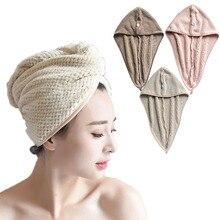 Toallas de secado de pelo toallas para mujeres Toalla de baño gorro de baño de secado rápido Super absorbente más grueso gorro de secado para cabello de microfibra