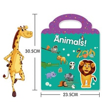 30Pcs Cartoon Children Educational Adhesive Sticker Baby Kids Animal Stationery Scrapbook Cup Phone