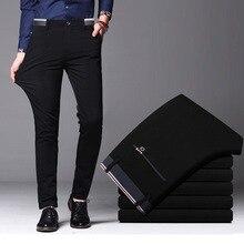 2021 גברים של אביב סתיו אופנה עסקים מקרית ארוך מכנסיים חליפת מכנסיים זכר אלסטי ישר פורמליות מכנסיים בתוספת גודל גדול 28-40