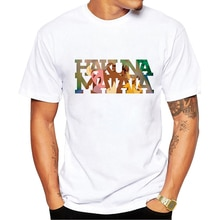 Roi Lion Simba meilleurs amis Timon et Pumbaa hommes Streetwear gothique Anime surdimensionné t-shirt HAKUNA MATATA hommes vêtements 2020