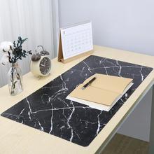 80*40 см Большой размер компьютерный стол коврик простой буфер обмена стол клавиатура ноутбук стол коврик геймер мышь изоляционный коврик мрамор искусственная кожа