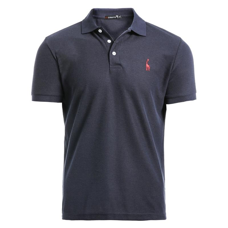AIOPESON New Man Polo Shirt Mens Casual Deer Embroidery 35% Cotton Polo shirt Men Short Sleeve High Quantity polo men