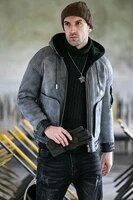 double sided wool shearling mens hooded wool overcoat male genuine leather clothes coat winter size s 5xl