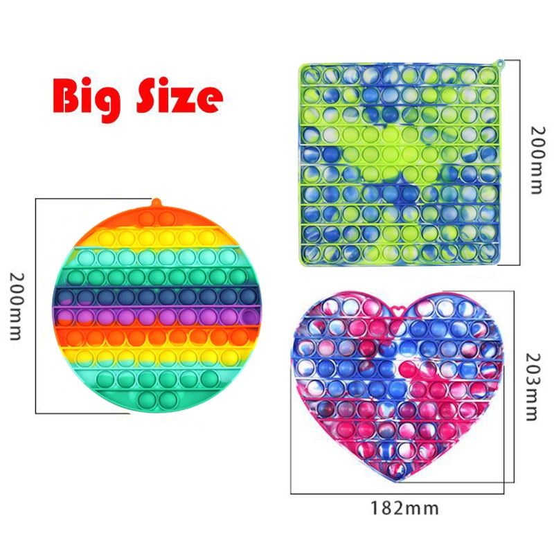 Big Size Pop It Push Bubble Fidget Toys For Schoolbag Pendant Hot Adult Stress Relief Toy Popit Soft Squishy Anti-Stress Gift enlarge