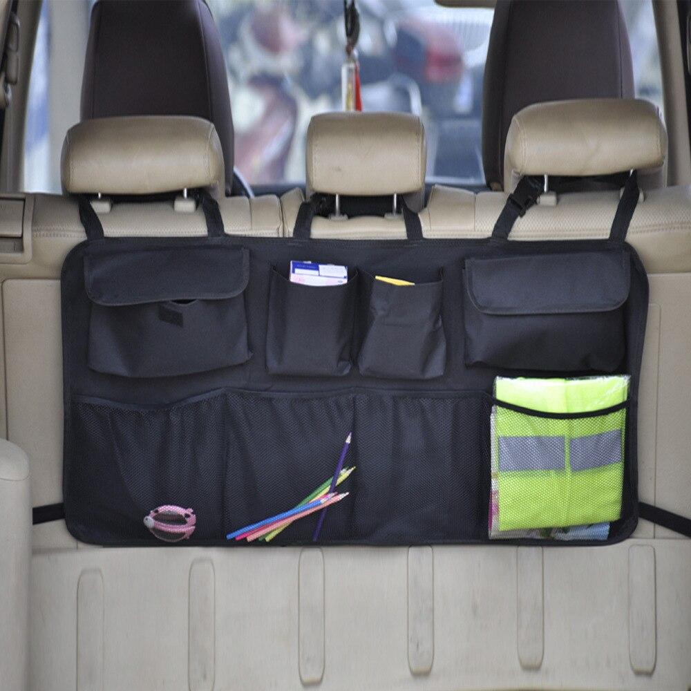 durable car trunk organizer stowing tidying auto storage box car trunk bag oxford cloth interior accessories Car Rear Seat Back Storage Bag Multi Hanging Nets Pocket Trunk Bag Organizer Auto Stowing Tidying Interior Accessories Supplies
