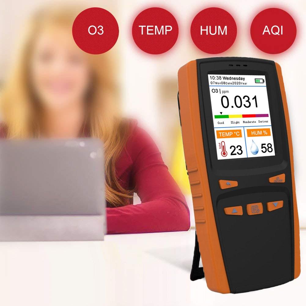 HANTECH Portable Ozone Analyzer Multifunctional Intelligent O3 Ozone Meter Gas Detector Sensor Air Quality Pollution Monitor