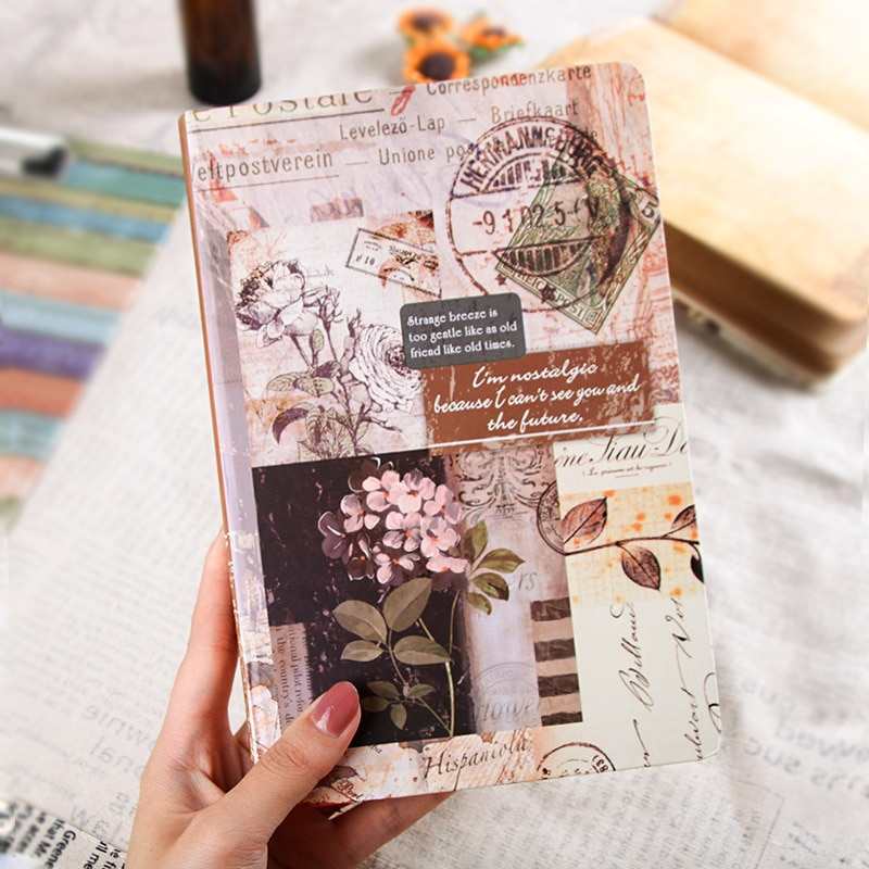 AliExpress - Notebook 192 Pages A5 Kraft Paper European Vintage Travel Diary Journal DIY Planner Sketch Book Agenda School Office Stationery