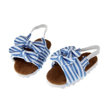 Nouvelle mode chaussures de poupée bleue pour 18 pouces génération poupée américaine bricolage chaussures de poupée avec Bow Born bébé poupées chaussures livraison gratuite