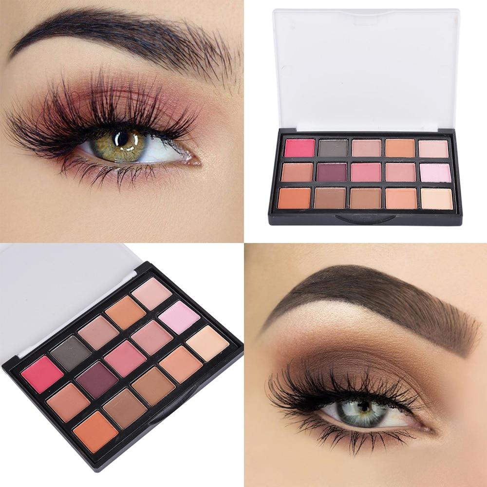 Manooby 15 Colors/SET Professional Women Eye Shadow Makeup Cosmetic Powder Waterproof Long Lasting Smoky Eyeshadow Palette