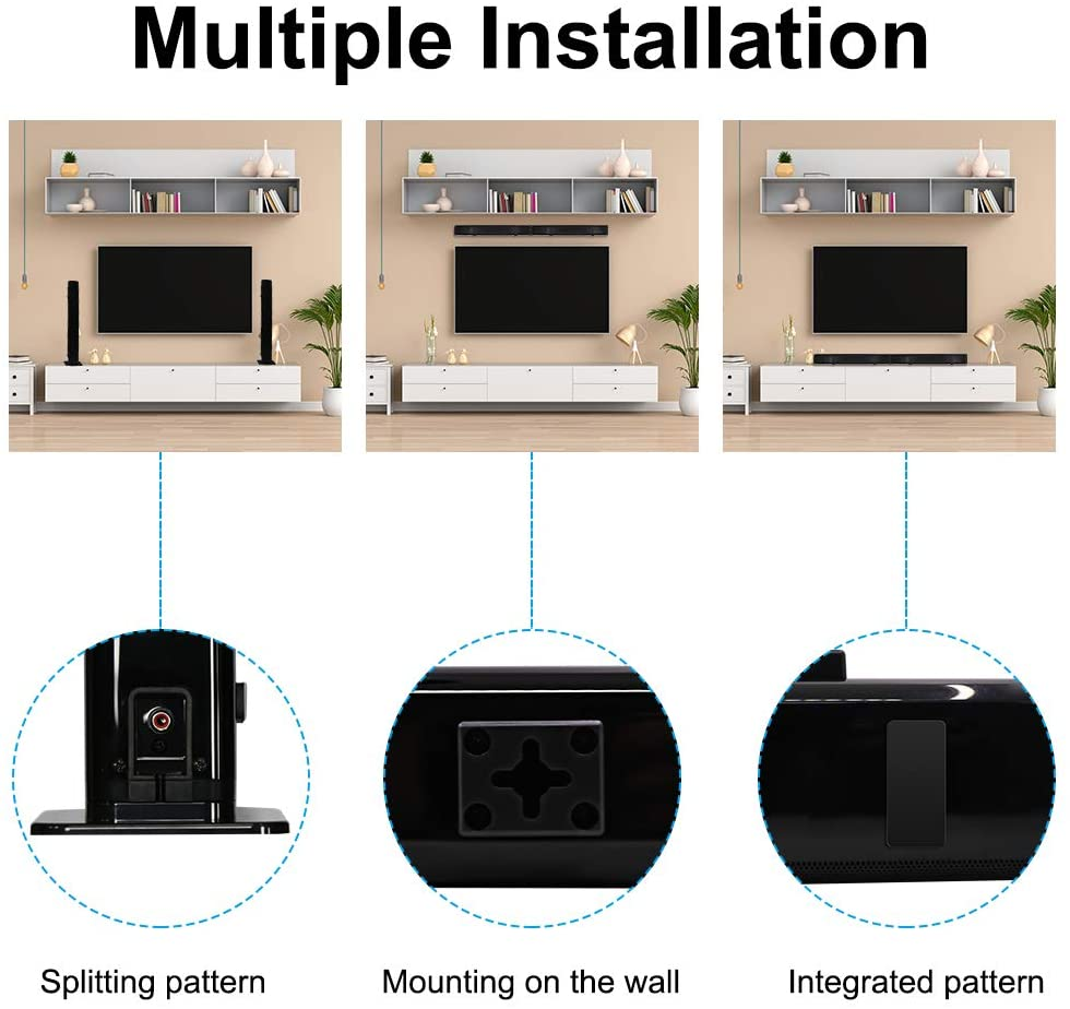 Home TV Theater Soundbar 40W Detachable Speaker Wired & Wireless Surround Bluetooth 5.0 Sound Bar Build-in Subwoofer with Remote enlarge