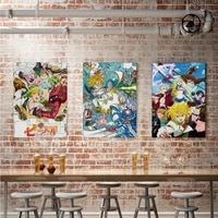 japanese anime home decoration poster canvas seven sins melioda animation painting living room wall art picture indoor decor