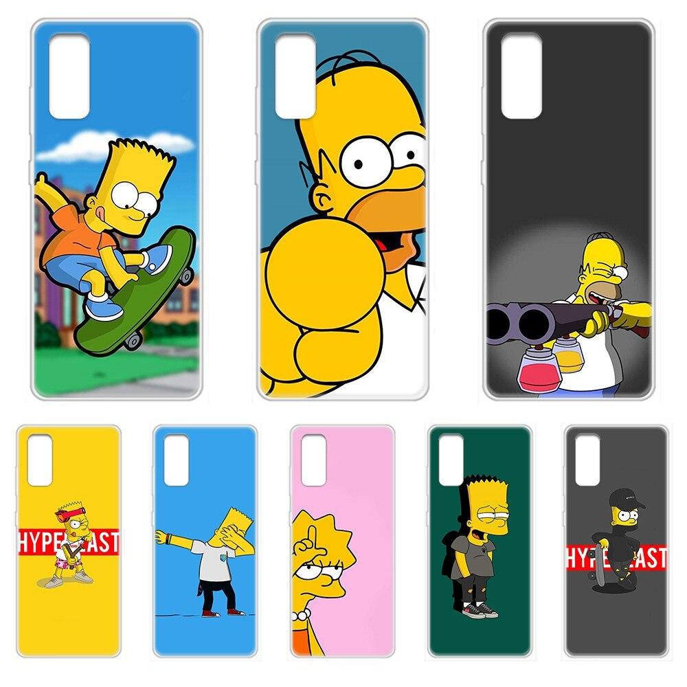 De dibujos animados simpson tendencia suave primer caso de teléfono transparente para el SamSung Galaxy S 7 8 9 10 11 20 20e 50 51 70 71 Plus Ultra