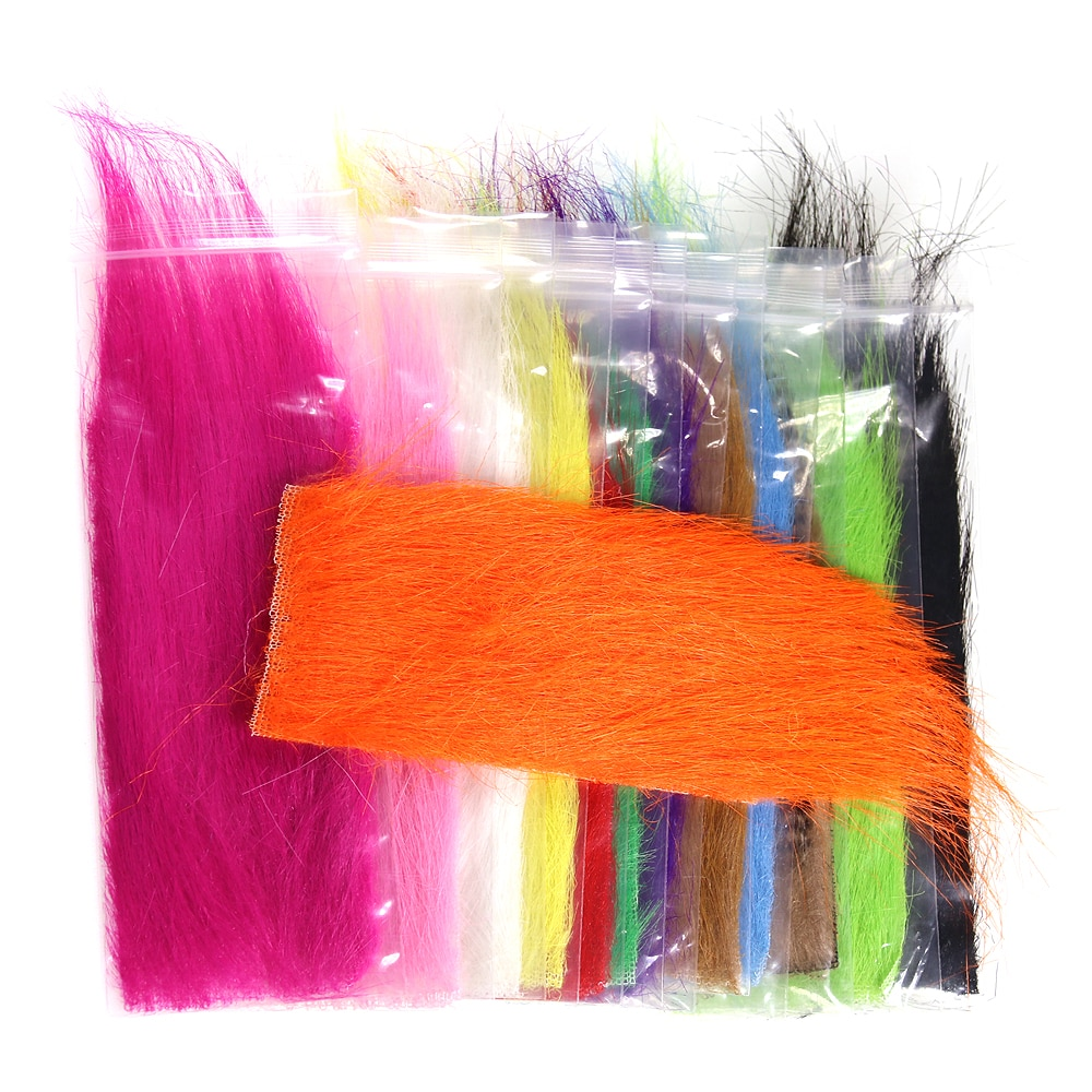 ICERIO 1 Bag Furabou Craft Fur Soft Synthetic Fiber Streamer Tail Wing Fly Fishing Tying Materials icerio 50pcs fly tying brass beads nymph streamer bugs fly hook tying materials