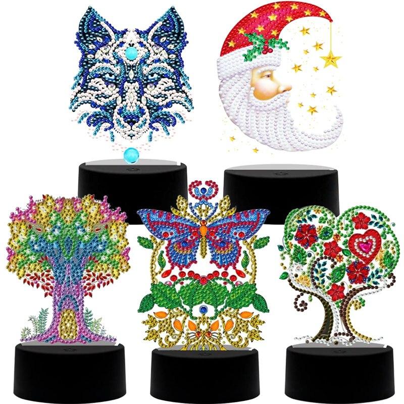 DIY Diamond Painting Led Light Pad 5D Diamond Mosaic Embroidery Lamp Night Light 7 Colors Available Home Desk Night Lamp Decor