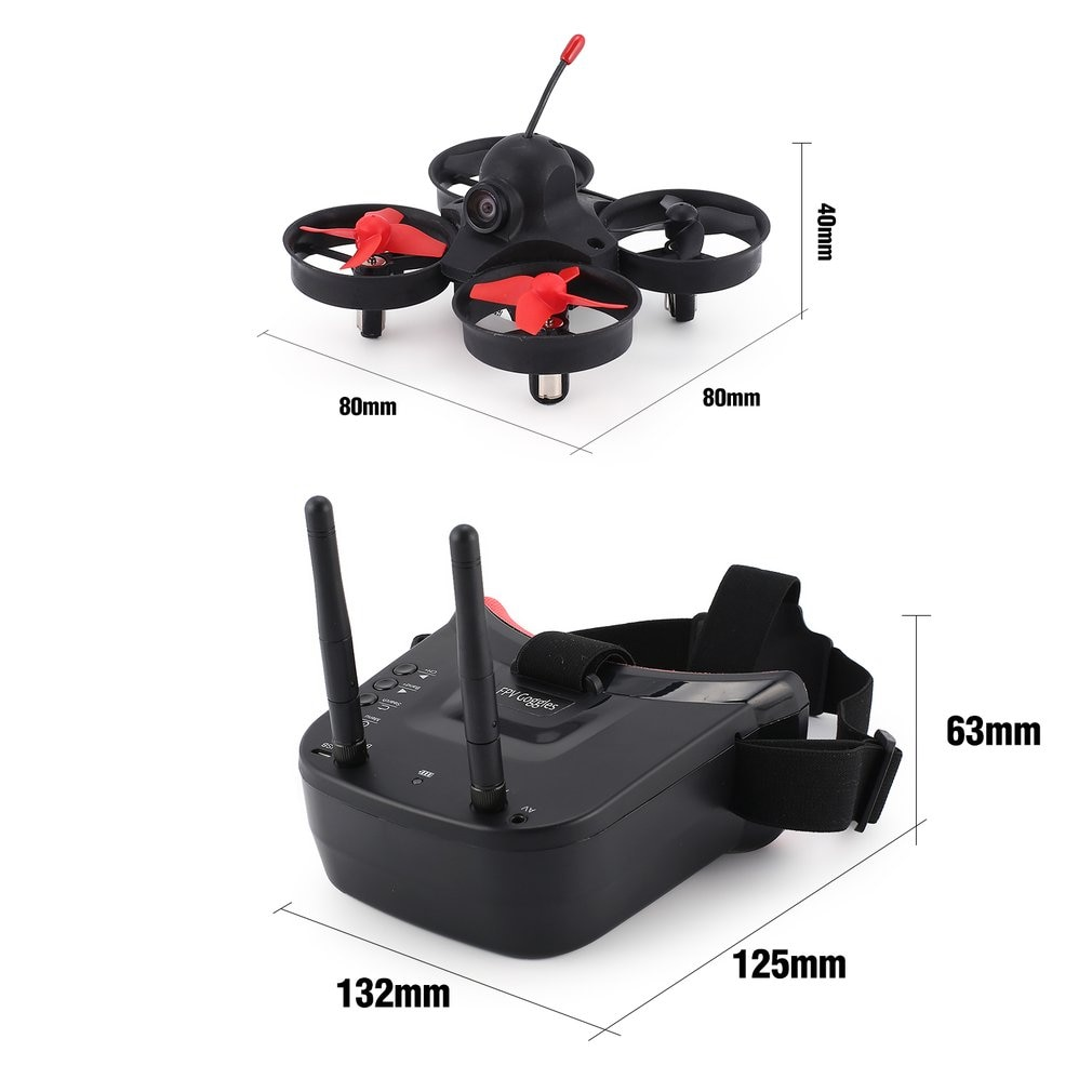 5.8G 40CH FPV Camera Mini RC Racing Drone Quadcopter Aircraft with 3in Headset Auto-searching Goggles Receiver Monitor enlarge