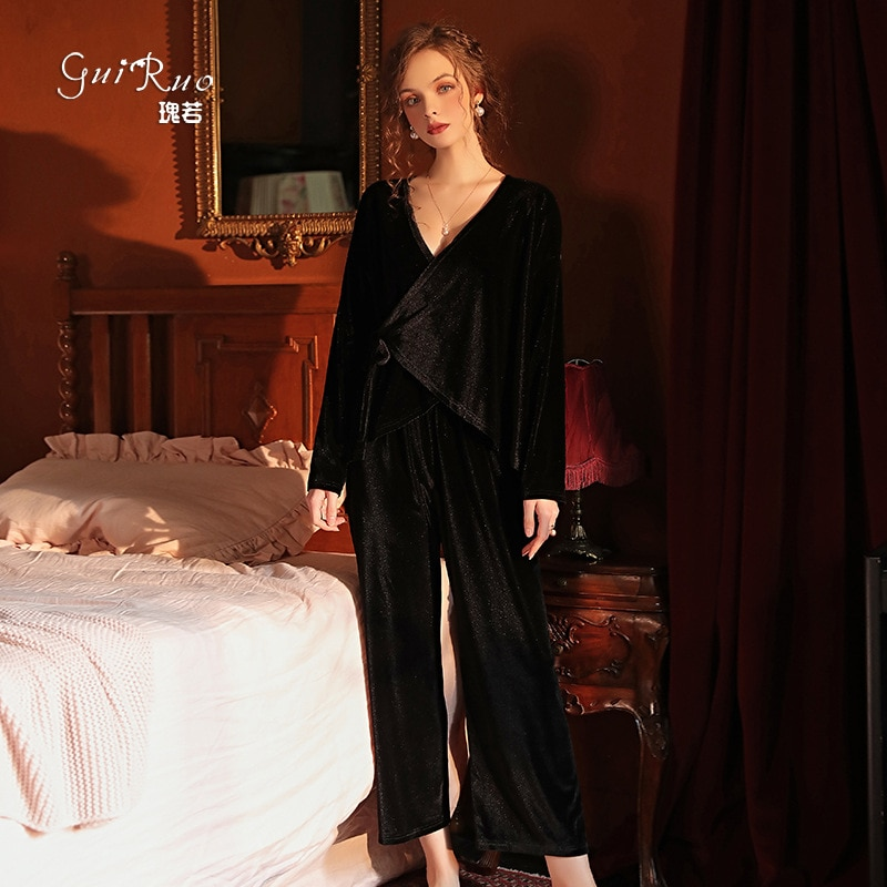 Пижамный комплект женский домашний, одежда для сна, одежда для отдыха, домашний костюм, домашняя одежда, бархатная одежда