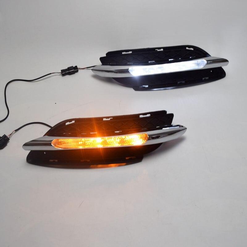 1 juego de luces LED DRL para coche, intermitente para Mercedes Benz B200 W246 B180 2011 2014, luces de circulación diurna con luz de giro