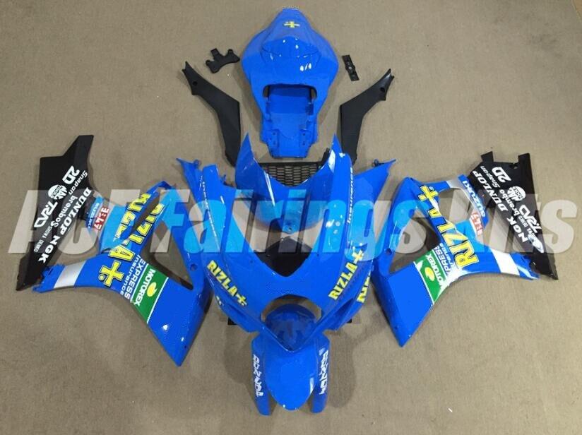 TOP New Motorcycle Fairings kit Fit For Suzuki GSXR1000 K7 2007 2008 GSXR-1000 07 08 ABS Bodywork custom blue yellow