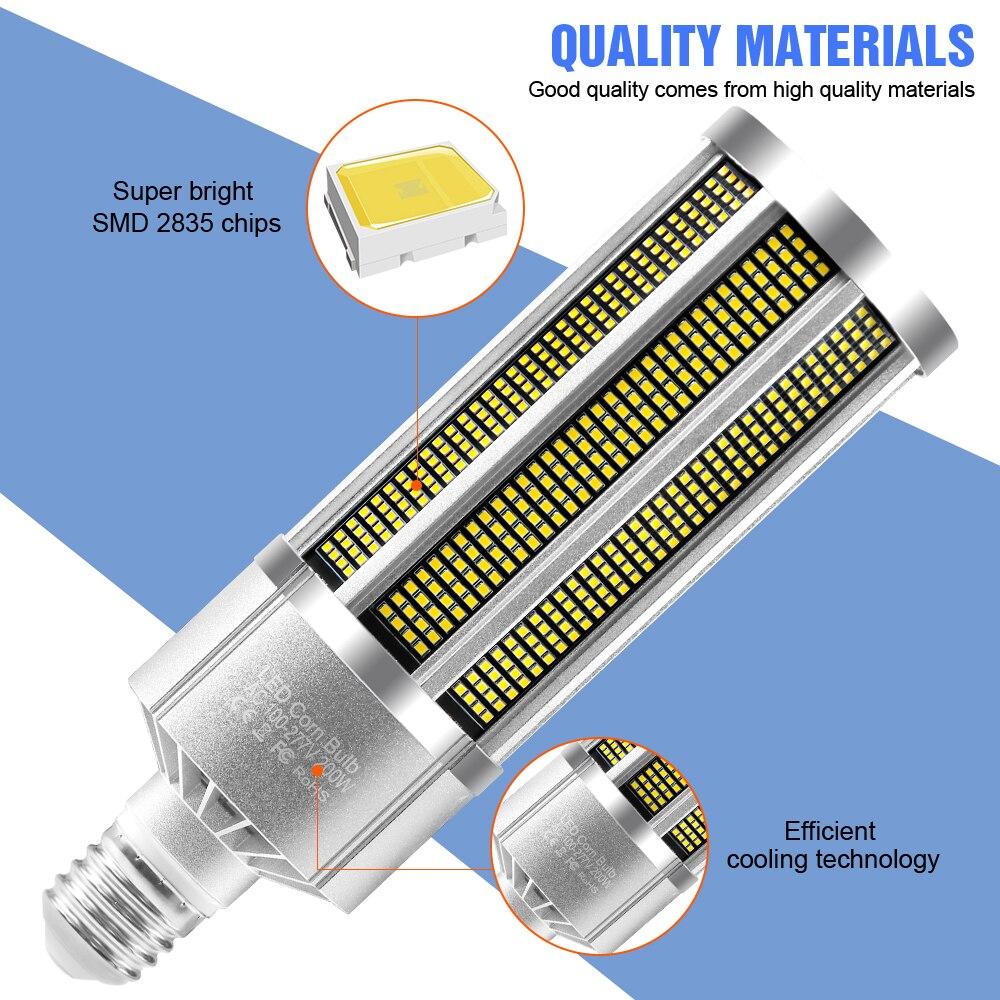 LED E27 Corn Lamp E39 Garage Light Bulb 220V Ceiling Lamp 110V Spotlight Industrial Warehouse High Power Lighting 150W 200W 240W enlarge